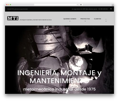 Best WordPress theme Machinist - mtisa.es