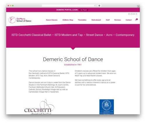 Dance Studio WordPress template - demericdance.co.uk