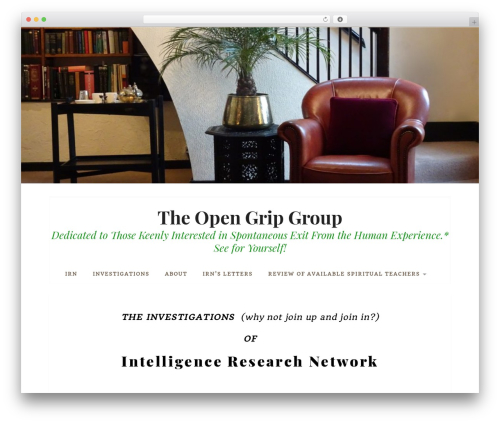 Datar WordPress website template - consciousnessfirst.org
