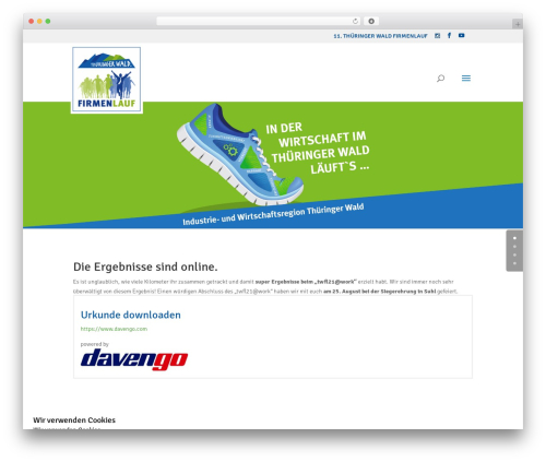Divi WordPress template for business - thueringer-wald-firmenlauf.de