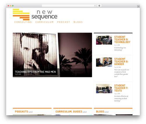 Extra best WordPress theme - newsequence.org
