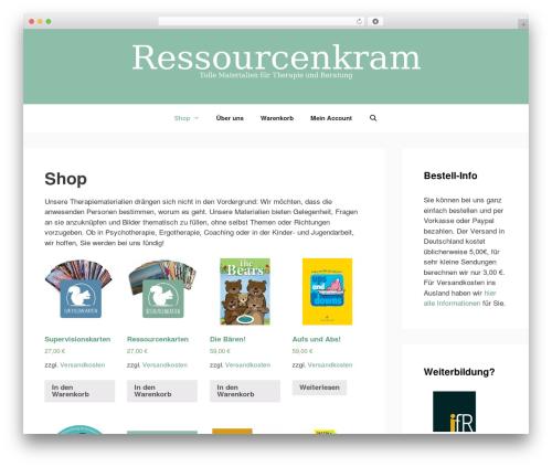 GeneratePress WordPress template free - ressourcenkram.de
