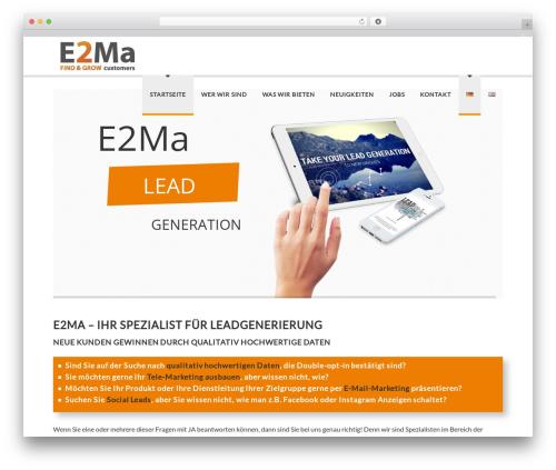 Best WordPress template Delicate - e2ma.de