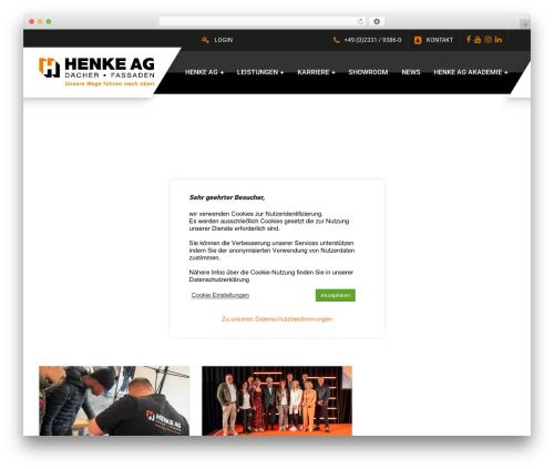 GymPress PT WordPress website template - henke-ag.de