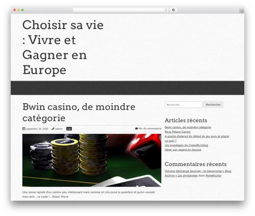 Quark template WordPress free - choisirnotreeurope.fr