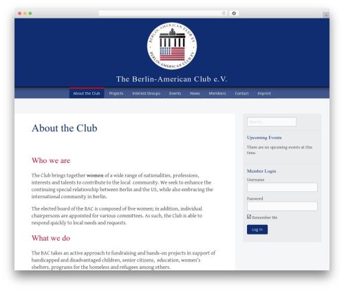 Theme WordPress Big Brother - berlin-american-club.de