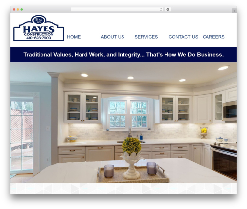 WordPress template Cherry Framework - hayesconstruction.net