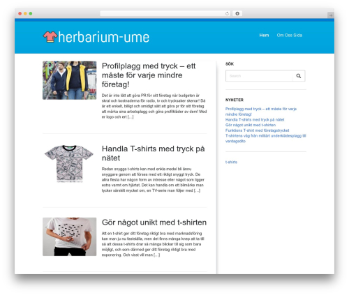 WordPress theme DutchStartingUp - herbarium-ume.se