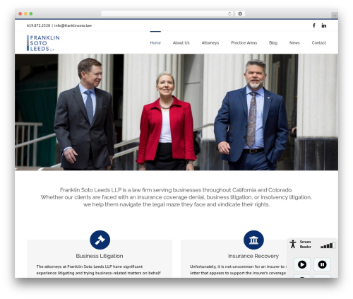 Avada business WordPress theme - franklinsoto.law