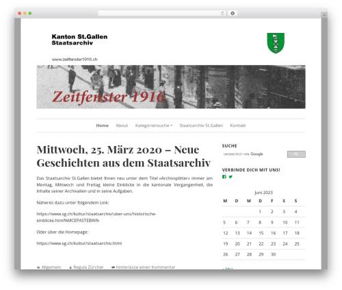 Daniela theme WordPress - zeitfenster1916.ch