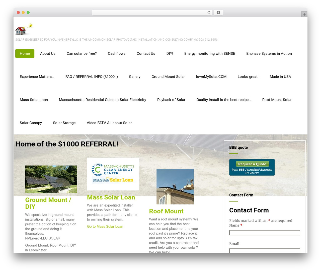 Eco Friendly Lite business WordPress theme - nvenergyllc.solar