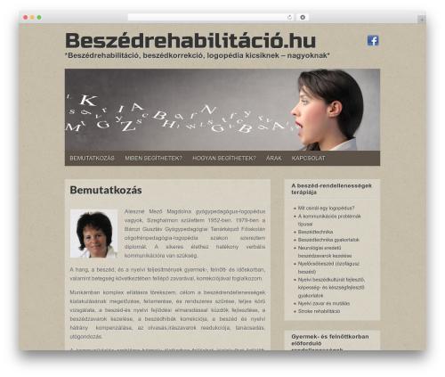 Gridiculous WordPress theme - beszedrehabilitacio.hu