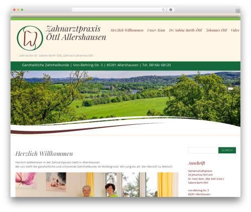 Longevity best free WordPress theme - praxisoettl.de