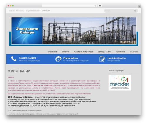 Sanitorium best free WordPress theme - engsib.ru