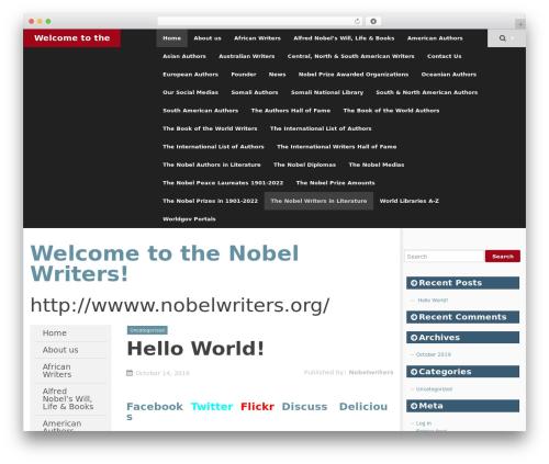 SmartAdapt free WordPress theme - nobelwriters.org