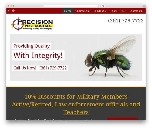 WordPress template Pest Control V7 - precisionpestcontrol.org