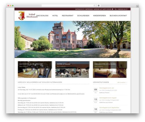 WordPress website template Hotec - schloss-altenhausen.de