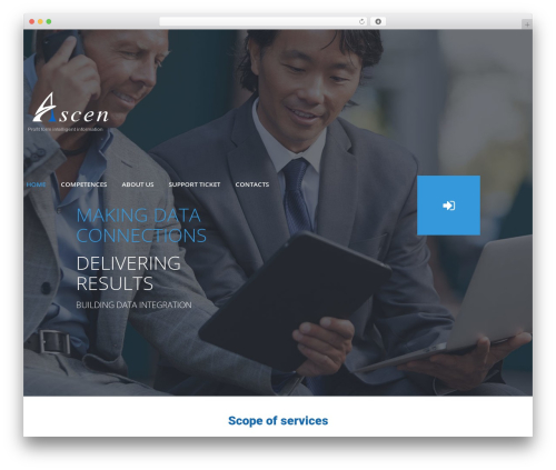 cherry top WordPress theme - ascen.pl