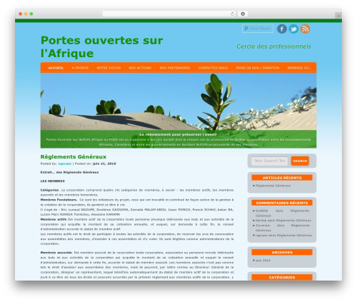 D5 Socialia template WordPress free - portesouvertessurlafrique.org