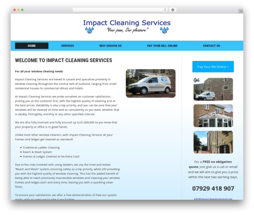 Headline News WordPress magazine theme - impactcleaningservices.org