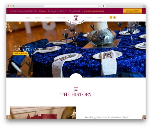 Royal Event WordPress website template - topciviccenter.net