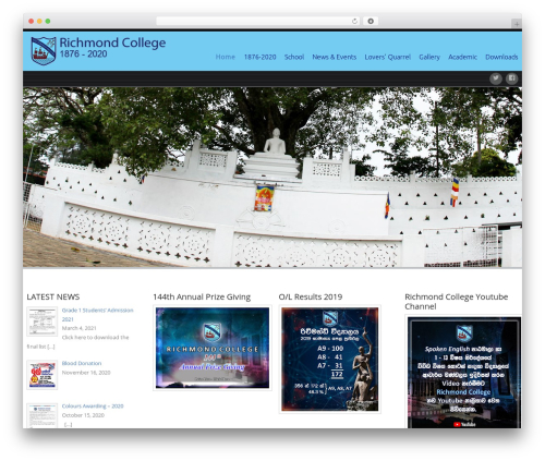Celestial WordPress template - richmondcollege.lk