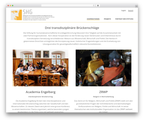 Jupiter best WordPress template - shg.foundation