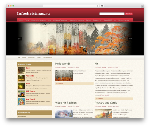 Oracle WordPress theme - infochristmas.ru