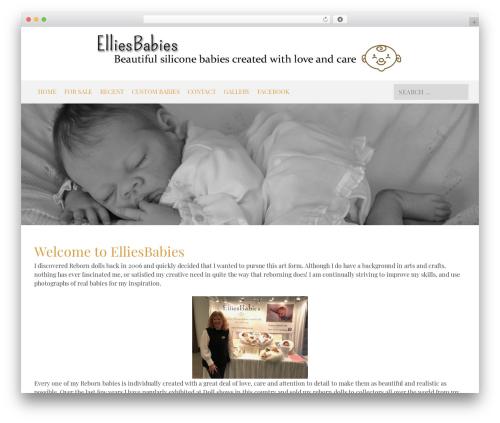 WordPress theme Black And White - elliesbabies.co.uk