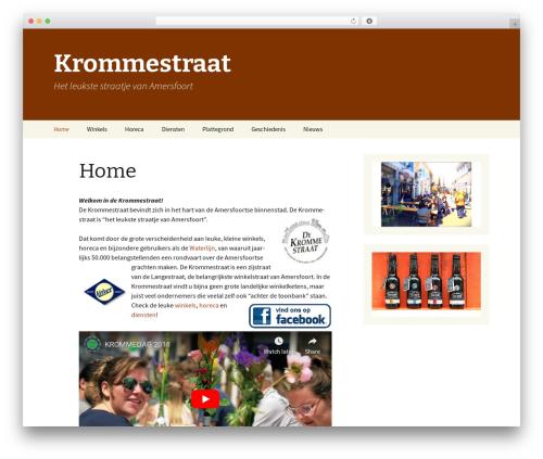 WordPress website template Twenty Thirteen - krommestraat.nl