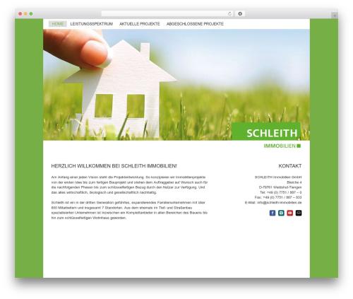 Avada premium WordPress theme - schleith-immobilien.de