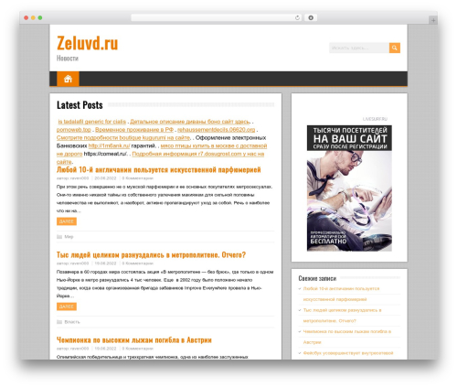 BrickYard WordPress theme - zeluvd.ru