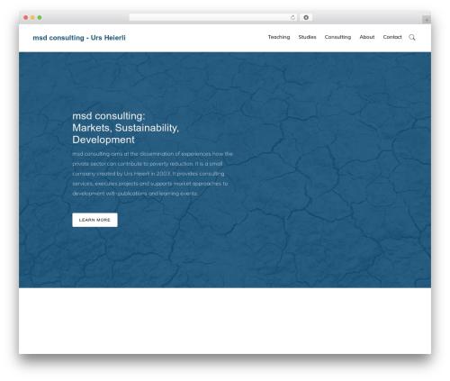 Genesis template WordPress - msdconsult.ch