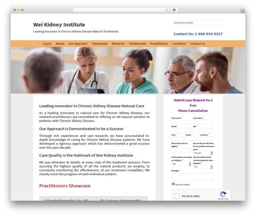 Genesis WordPress website template - weikidneyinstitute.org