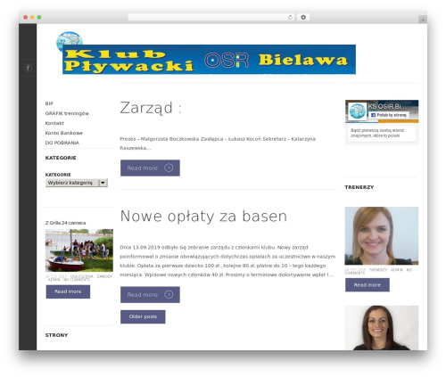 Magazine best WordPress theme - plywacybielawa.pl