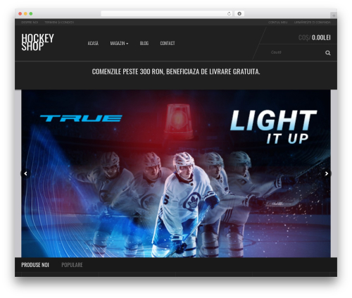 Sportexx WordPress shopping theme - hockeyshop.ro