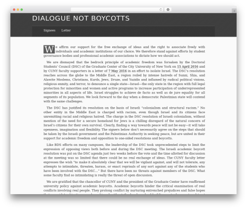 The Erudite best WordPress theme - dialoguenotboycotts.org
