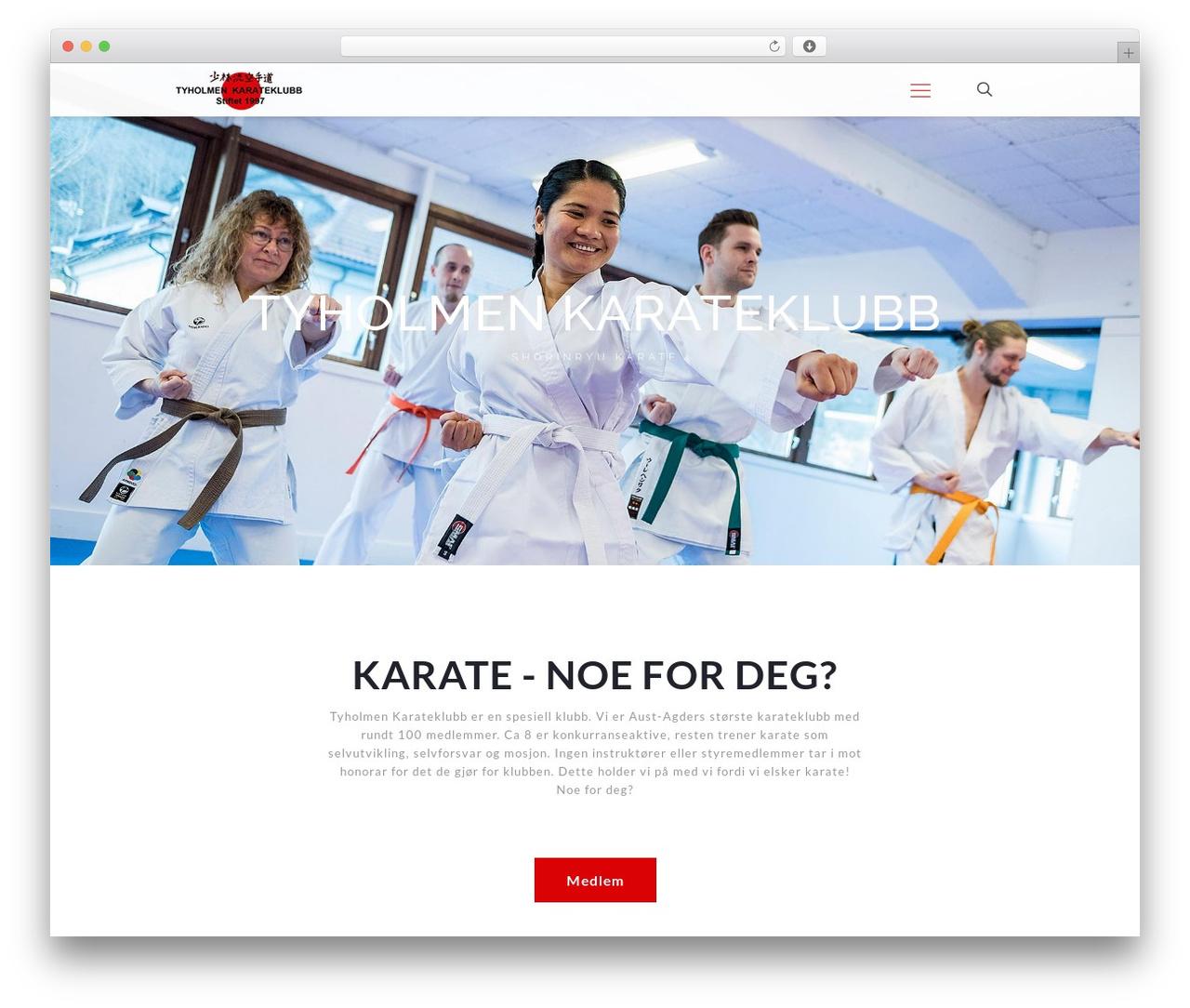 Betheme WordPress ecommerce template - tyholmenkarate.no