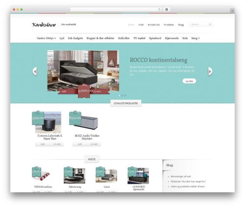Boutique template WordPress free - kanikula.no