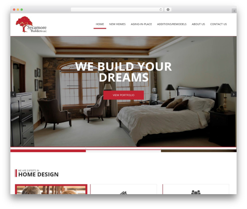 Constructioner WordPress theme - sycamorebuilders.net