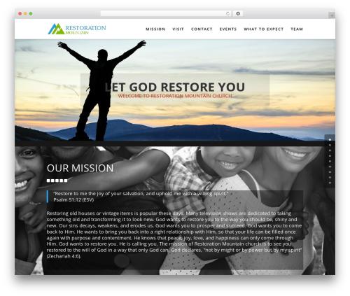 Divi WordPress theme - restorationmountain.org