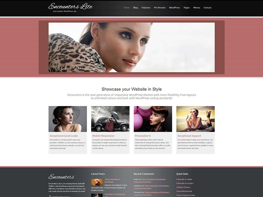 Encounters Lite photography WordPress theme