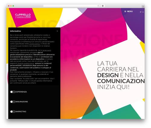 Filarete fashion WordPress theme - accademia-cappiello.it