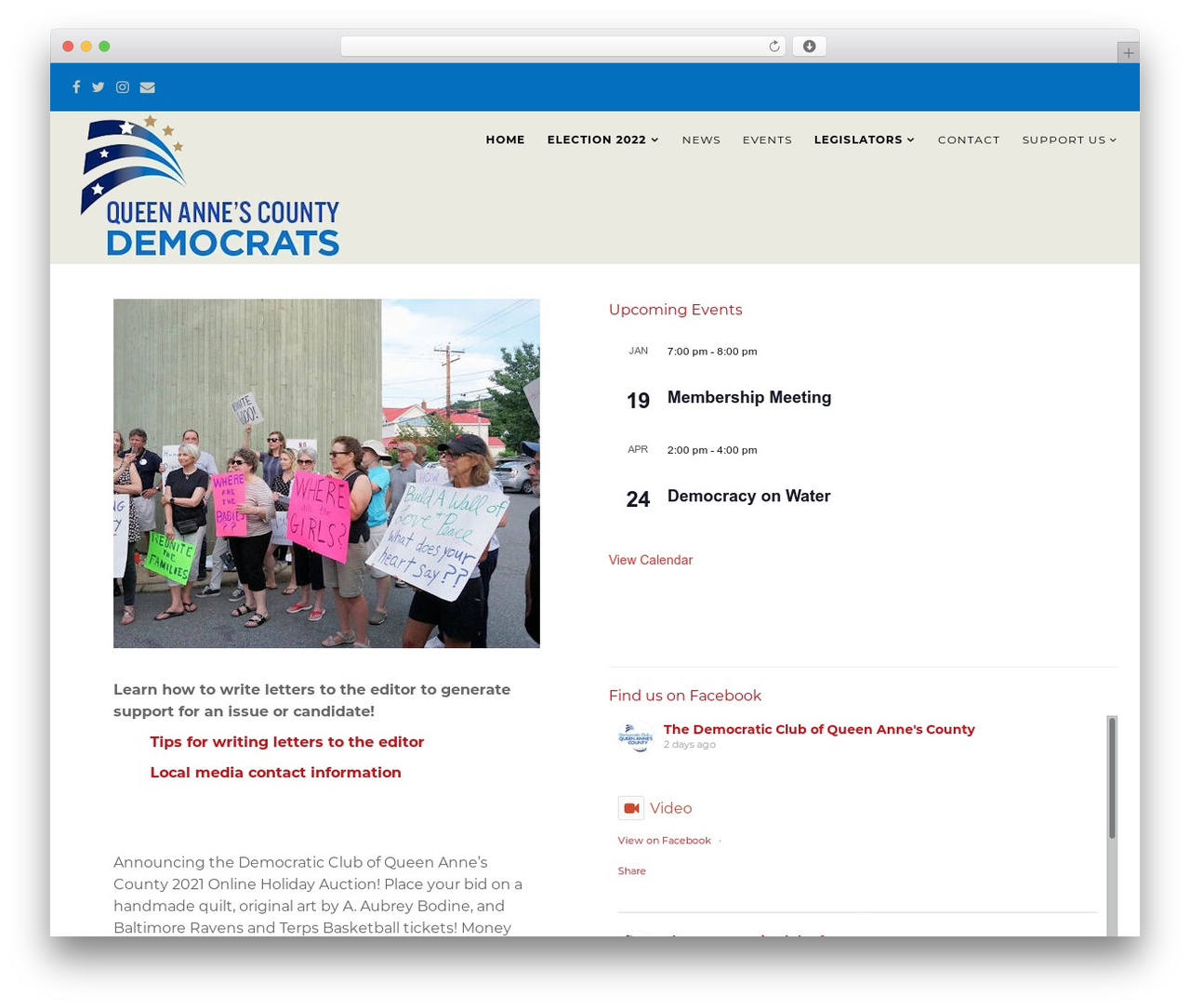 Politist WordPress theme - qacdems.org