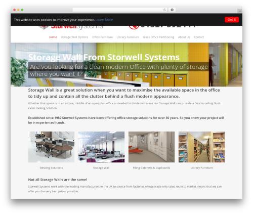 Salient best WordPress template - storage-wall.net