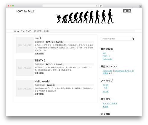 Theme WordPress Simplicity2 - ray2.net