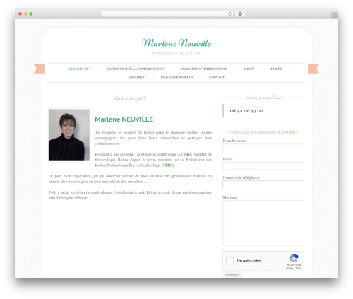 Theme WordPress Sugar and Spice - neuville-marlene.fr