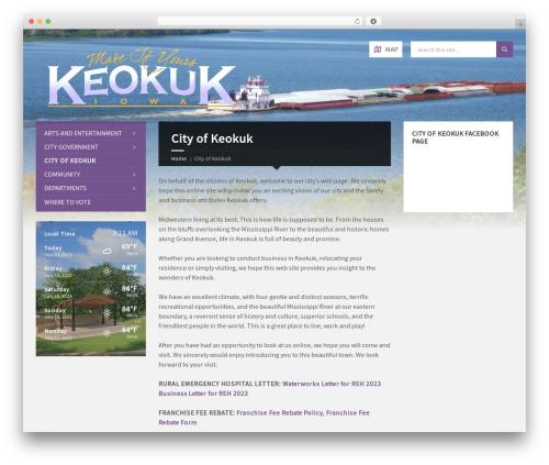 TownPress WordPress theme - cityofkeokuk.org