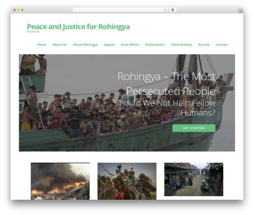 WordPress website template Ascension - rohingyapeace.org