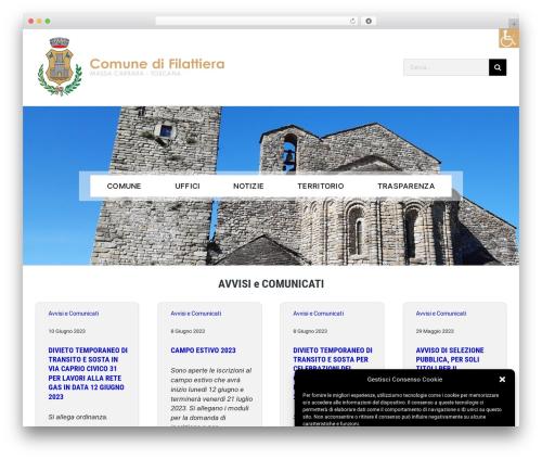 Avada WordPress theme - comune.filattiera.ms.it